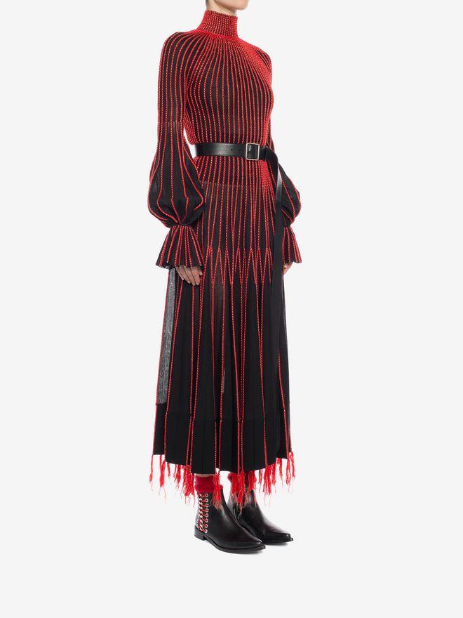 ALEXANDER MCQUEEN Long-Sleeved Knit Dress With Roll Neck Long Dress D d