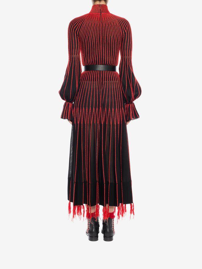 ALEXANDER MCQUEEN Long-Sleeved Knit Dress With Roll Neck Long Dress D e