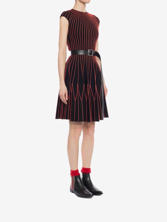 ALEXANDER MCQUEEN Cap Sleeve Mini Knitted Dress Mini Dress D d