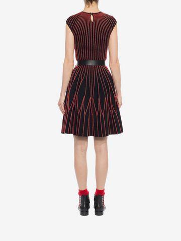 ALEXANDER MCQUEEN Cap Sleeve Mini Knitted Dress Mini Dress D e