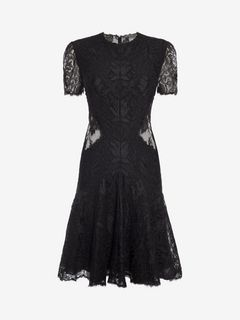 ALEXANDER MCQUEEN Mini Dress Woman Lace Mini Dress f