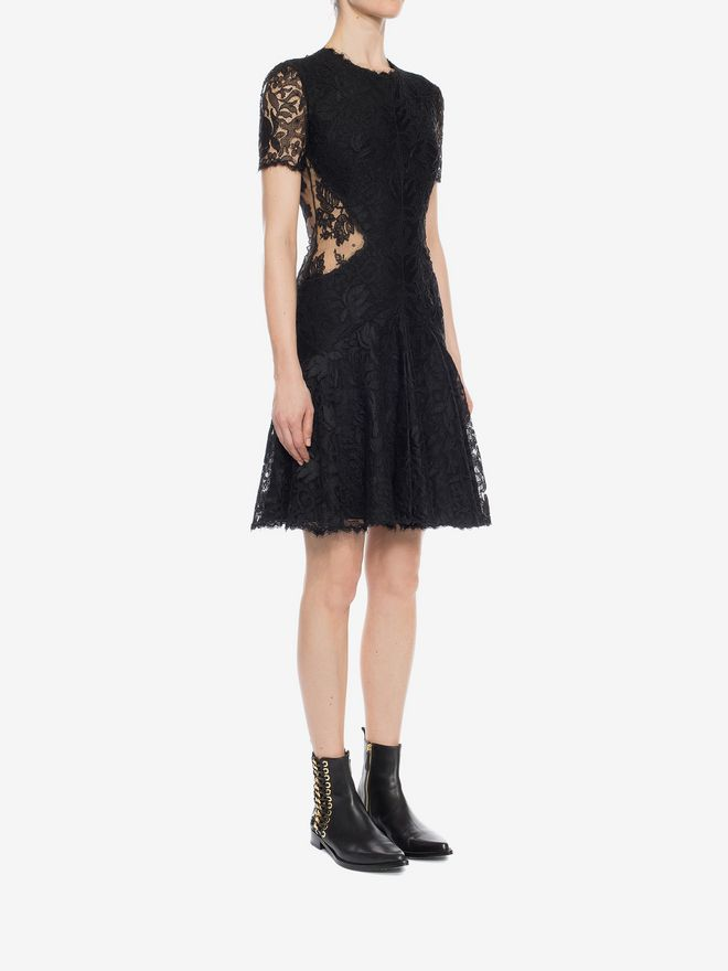 ALEXANDER MCQUEEN Lace Mini Dress Mini Dress D d