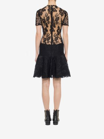 ALEXANDER MCQUEEN Lace Mini Dress Mini Dress D e
