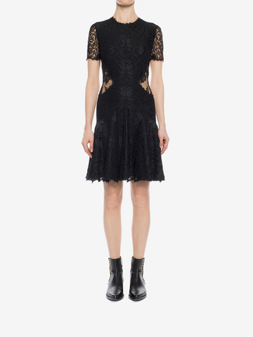 ALEXANDER MCQUEEN Lace Mini Dress Mini Dress D r