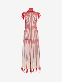 ALEXANDER MCQUEEN Long Dress D Long Knit Dress With Roll Neck f