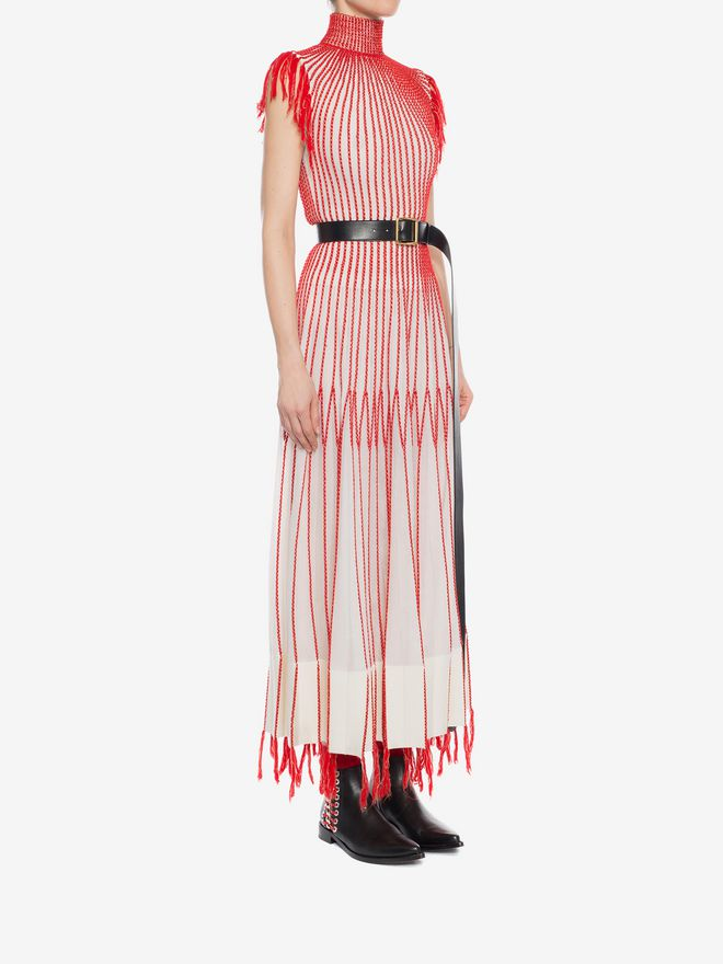 ALEXANDER MCQUEEN Long Knit Dress With Roll Neck Long Dress D d