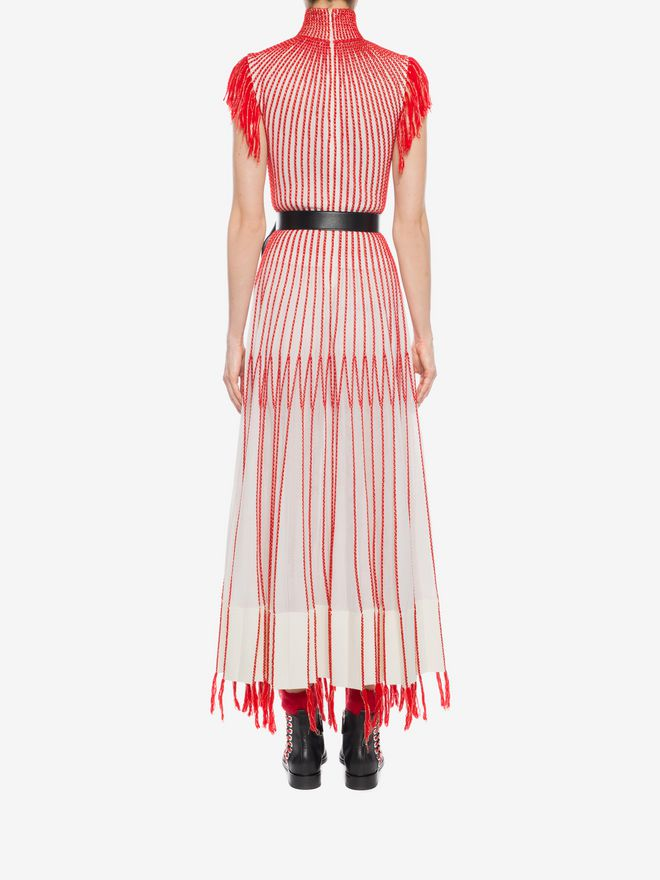 ALEXANDER MCQUEEN Long Knit Dress With Roll Neck Long Dress D e