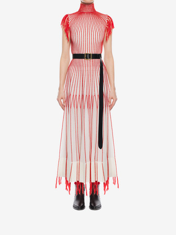 ALEXANDER MCQUEEN Long Knit Dress With Roll Neck Long Dress D r