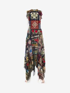 ALEXANDER MCQUEEN Long Dress D Patchwork Embroidered Long Dress f