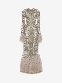 ALEXANDER MCQUEEN Long Dress D Embroidered Evening Dress f