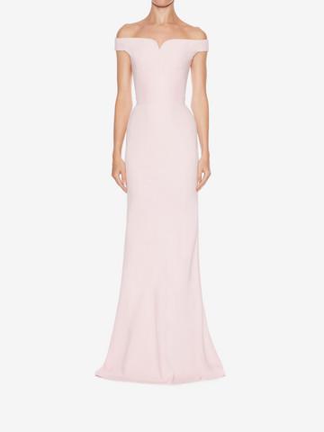 ... ALEXANDER MCQUEEN Off-The-Shoulder Evening Dress Long Dress Woman r ...