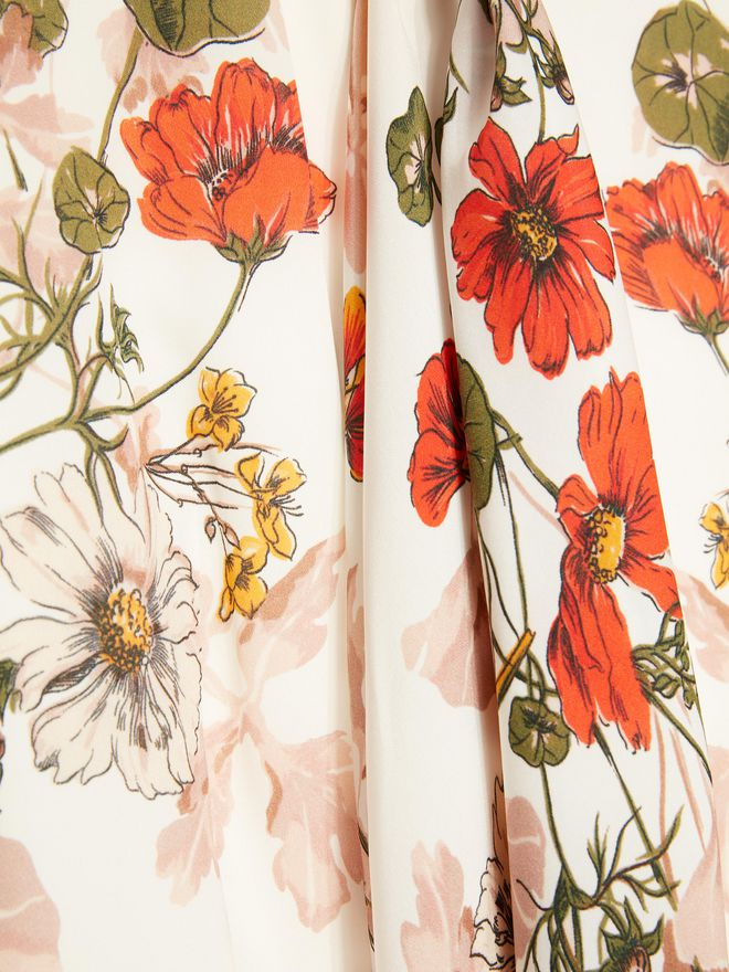 ALEXANDER MCQUEEN Sleeveless Scarf Print Dress ロングドレス レディース a