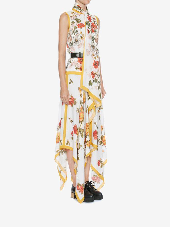 ALEXANDER MCQUEEN Sleeveless Scarf Print Dress ロングドレス レディース d