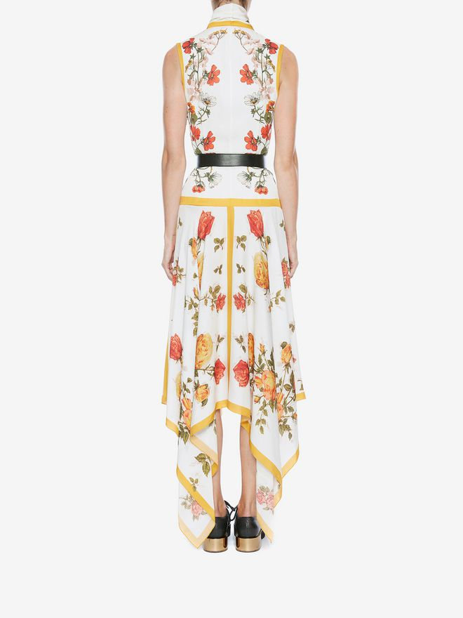 ALEXANDER MCQUEEN Sleeveless Scarf Print Dress ロングドレス レディース e