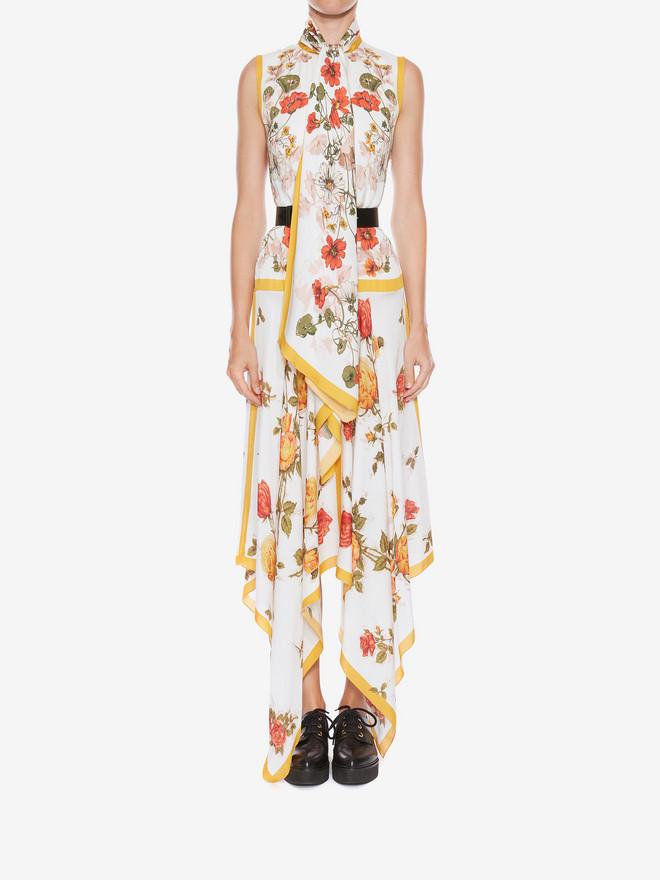 ALEXANDER MCQUEEN Sleeveless Scarf Print Dress ロングドレス レディース r
