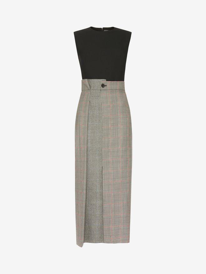 ALEXANDER MCQUEEN Asymmetrical Pencil Dress Mid-length Dress D f