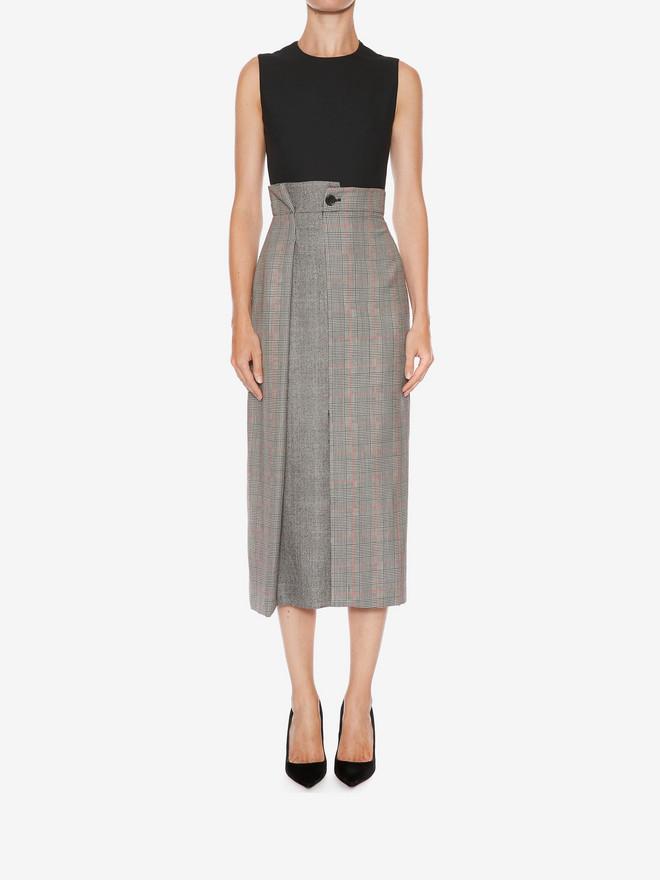ALEXANDER MCQUEEN Asymmetrical Pencil Dress Mid-length Dress D r