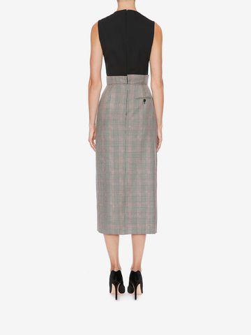 ALEXANDER MCQUEEN Asymmetrical Pencil Dress Mid-length Dress D e