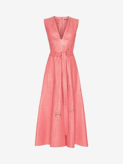 ALEXANDER MCQUEEN Mid-length Dress Woman Leather Midi dress f
