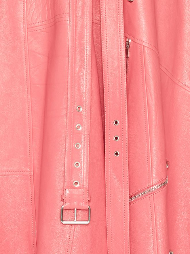 ALEXANDER MCQUEEN Leather Midi dress Mid-length Dress Woman a