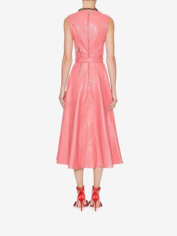 ALEXANDER MCQUEEN Leather Midi dress Mid-length Dress Woman e