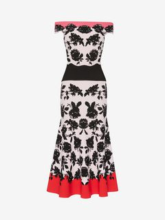 ALEXANDER MCQUEEN Mid-length Dress D Off-The-Shoulder Knit Midi Dress f