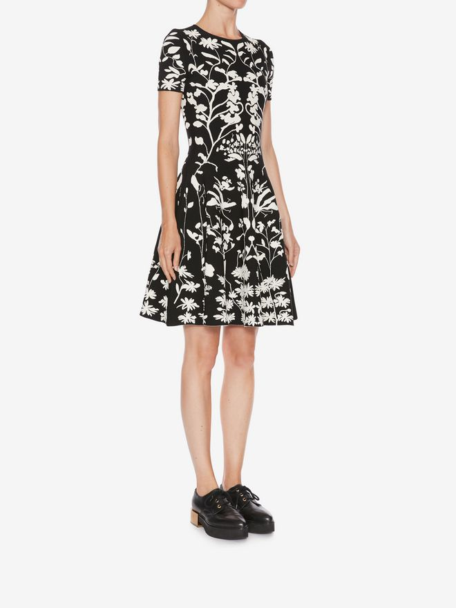 ALEXANDER MCQUEEN Knitted Mini Dress Mini Dress D d