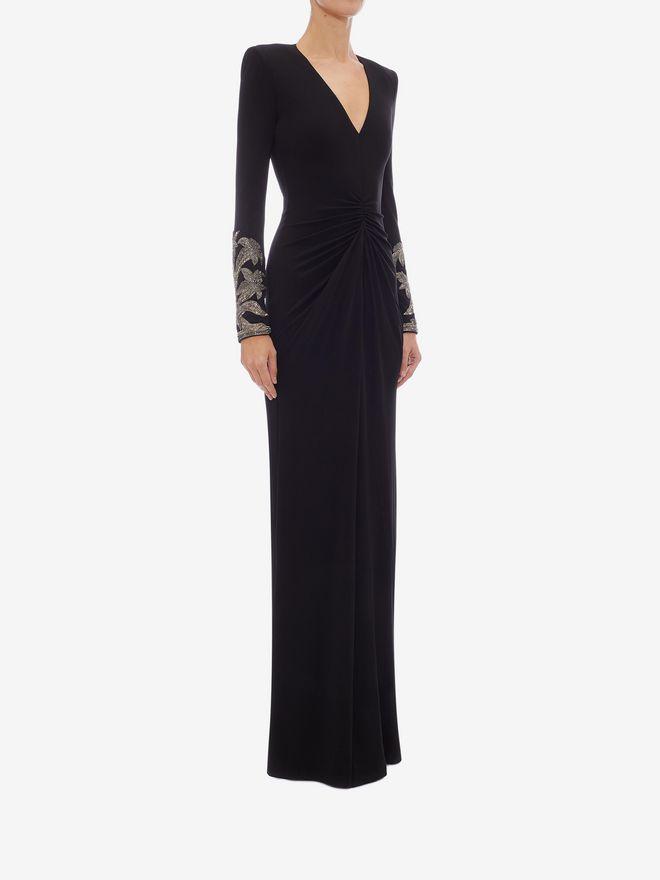 ALEXANDER MCQUEEN Embroidered Evening Dress Long Dress Woman d