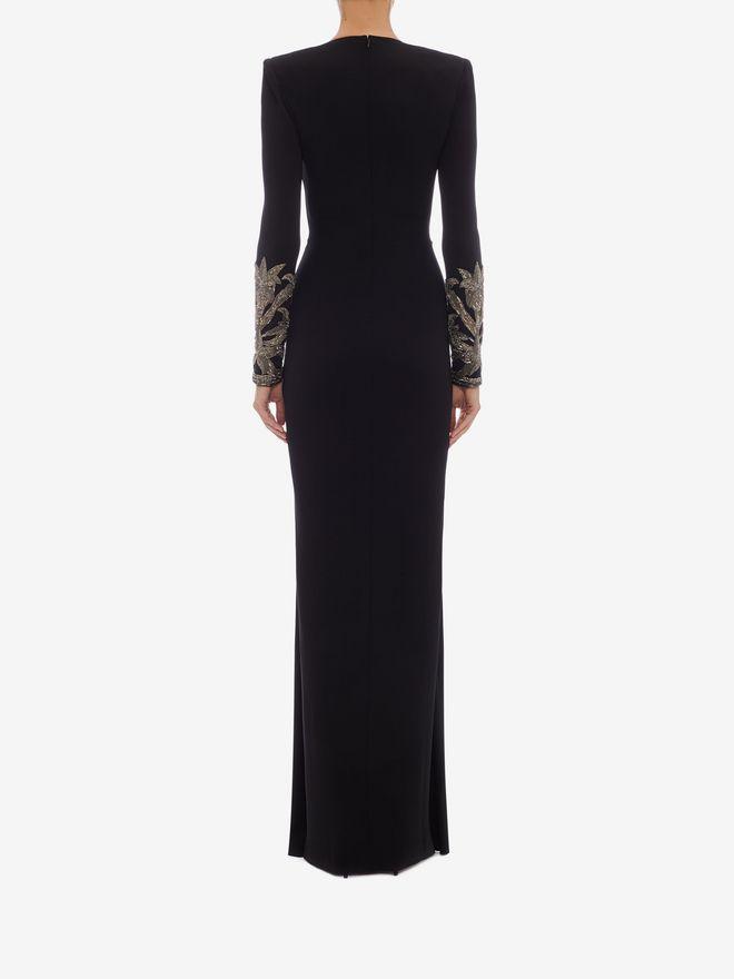 ALEXANDER MCQUEEN Embroidered Evening Dress Long Dress Woman e