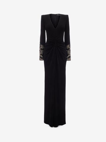 ALEXANDER MCQUEEN Embroidered Evening Dress Long Dress Woman f
