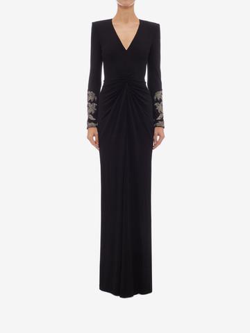ALEXANDER MCQUEEN Embroidered Evening Dress Long Dress Woman r
