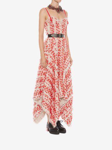 ALEXANDER MCQUEEN Tweed Corset Dress Long Dress D d