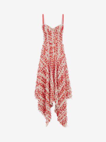 ALEXANDER MCQUEEN Tweed Corset Dress Long Dress D f