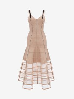ALEXANDER MCQUEEN Mid-length Dress D Bustier Midi Knit Dress f
