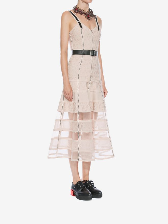 ALEXANDER MCQUEEN Bustier Midi Knit Dress Mid-length Dress Woman d