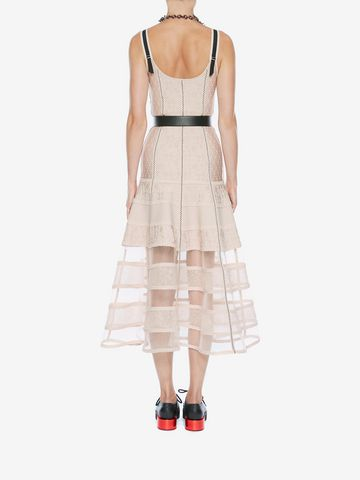 ALEXANDER MCQUEEN Bustier Midi Knit Dress Mid-length Dress Woman e