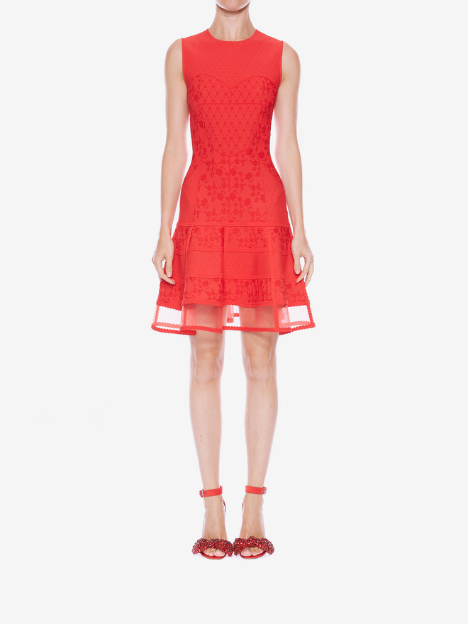 ALEXANDER MCQUEEN Sleeveless Mini Knit Dress Mini Dress D r