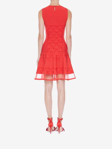 ALEXANDER MCQUEEN Sleeveless Mini Knit Dress Mini Dress D e