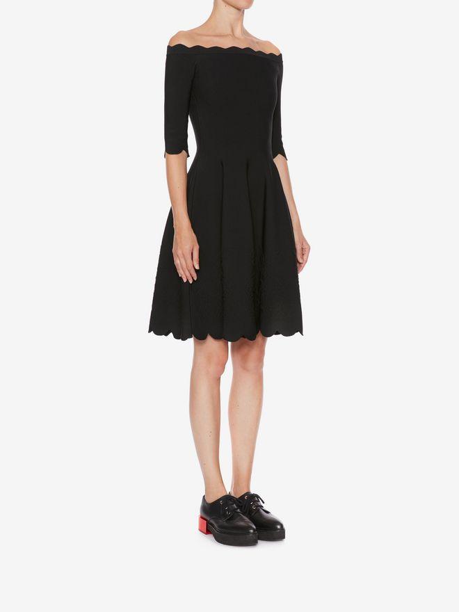 ALEXANDER MCQUEEN Off-The-Shoulder Mini Knit Dress Mini Dress Woman d