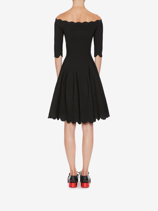 ALEXANDER MCQUEEN Off-The-Shoulder Mini Knit Dress Mini Dress Woman e