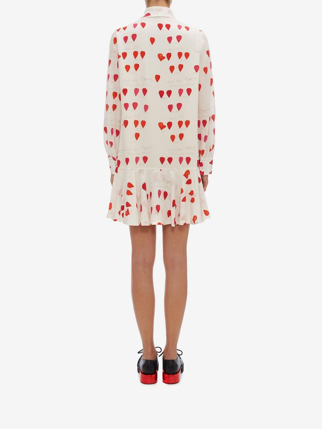 ALEXANDER MCQUEEN Petal Print Oversized Mini Dress Mini Dress Woman e