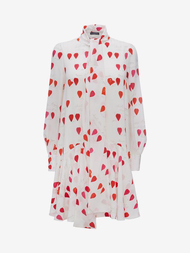 ALEXANDER MCQUEEN Petal Print Oversized Mini Dress Mini Dress Woman f