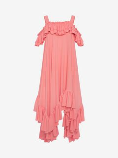 ALEXANDER MCQUEEN Mid-length Dress D Handkerchief Ruffle Dress f