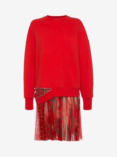 ALEXANDER MCQUEEN Mini Dress D Sweatshirt Plisse Mini Dress f