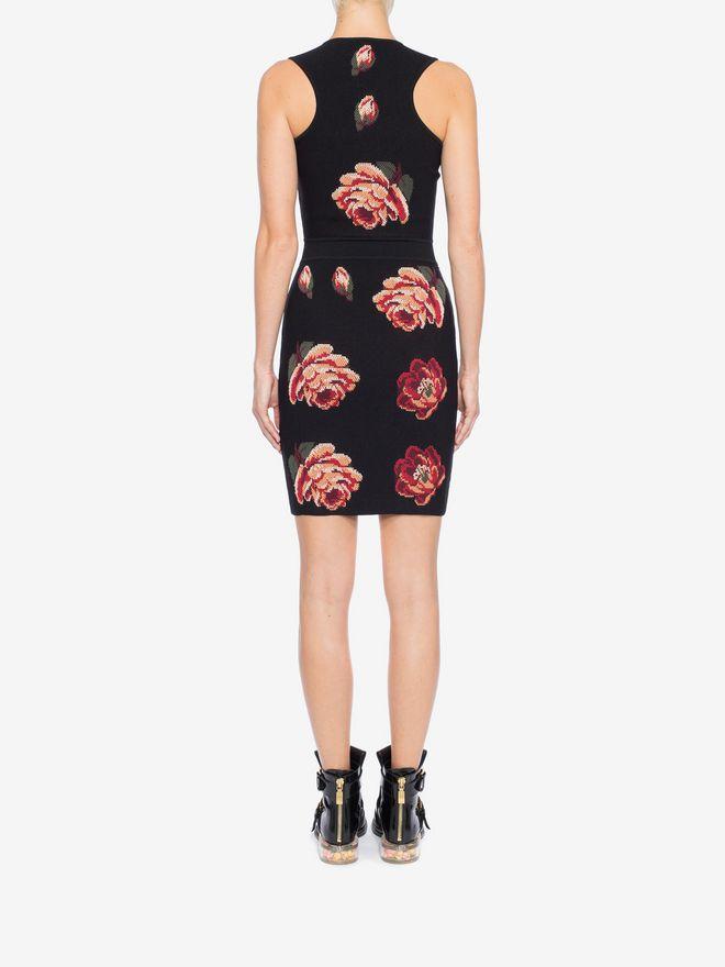 ALEXANDER MCQUEEN Rose Tapestry Mini knit Dress Mini Dress Woman e
