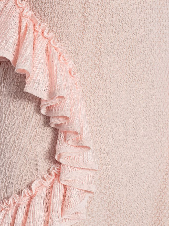 ALEXANDER MCQUEEN Off the Shoulder lace knit Ruffle mini Dress Mini Dress Woman a