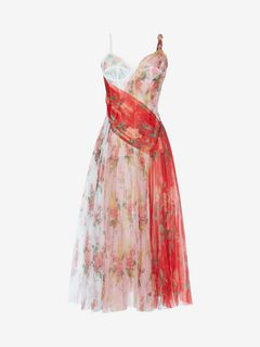 ALEXANDER MCQUEEN Mid-length Dress D Plissé midi dress in botanical print f