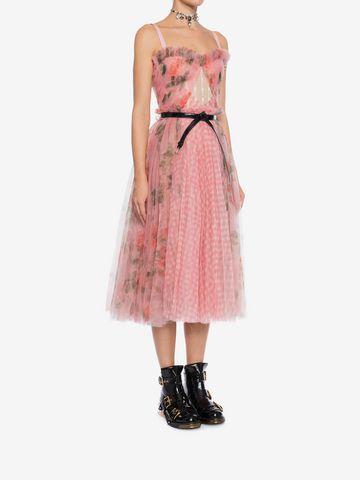 ALEXANDER MCQUEEN Garden Rose Corset Dress Mid-length Dress Woman d