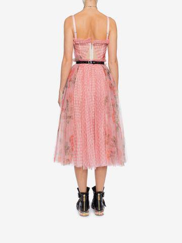 ALEXANDER MCQUEEN Garden Rose Corset Dress Mid-length Dress Woman e
