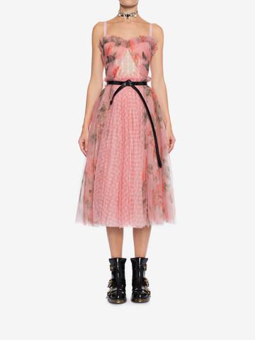 ALEXANDER MCQUEEN Garden Rose Corset Dress Mid-length Dress Woman r